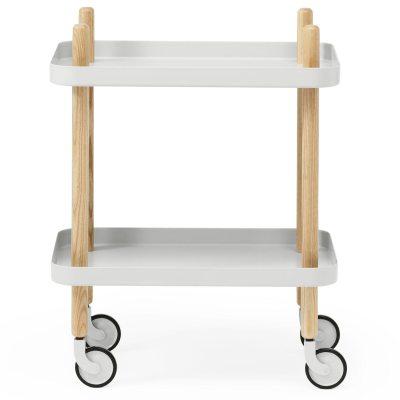 Block bord ljusgrå