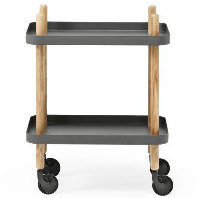 Block bord mörkgrå