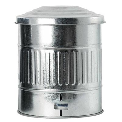 Bin pedalhink 15 L zink