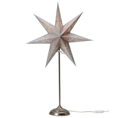 Beatrix Nord julstjärna på fot silver