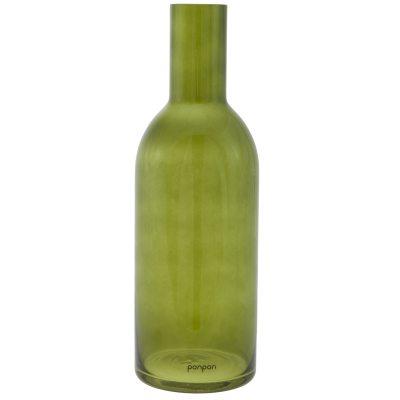 Bottle vas/ljusstake L grön