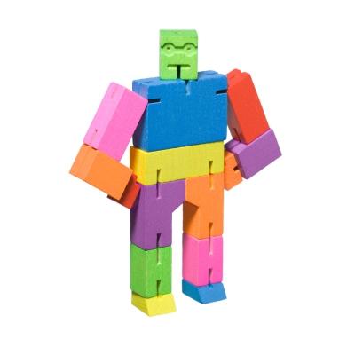 Microcubebot träfigur multi