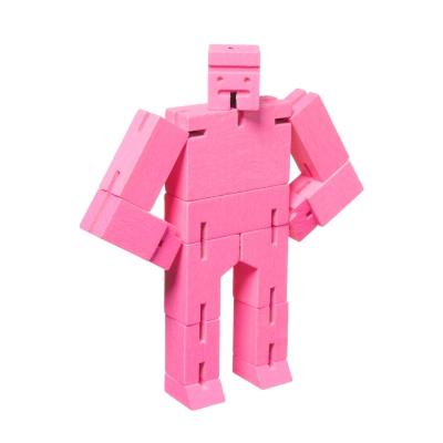 Microcubebot träfigur rosa