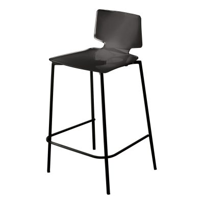 Casa barstol, svart/svarta ben