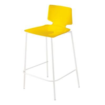 Bild av Casa barstol, gul/vita ben