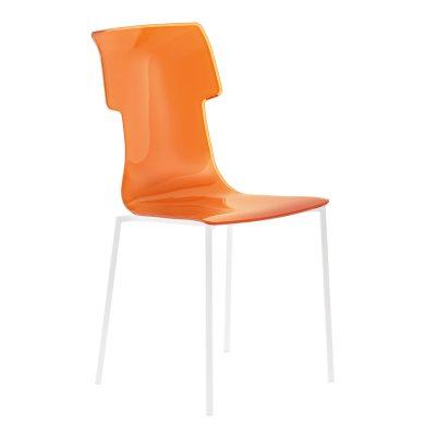 My Chair stol orange/vita ben