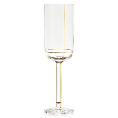 Colour champangeglas guld linje