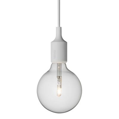 E27 lampa ljusgrå