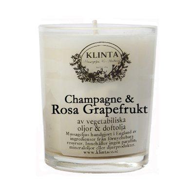 Massageljus, champange/grapefrukt 18h