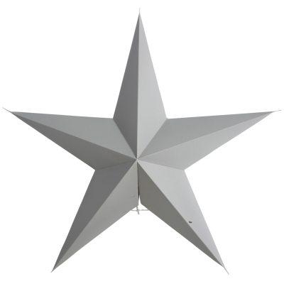 5 Point stjärna 60 cm grå