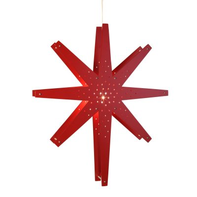 Tall stjärna röd