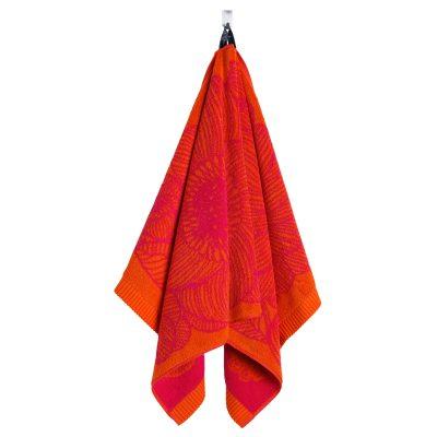 Kurjenpolvi handduk orange/röd