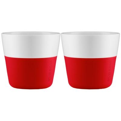 Lungo mugg 2-pack röd