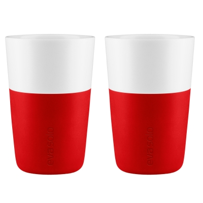 Caffe Latte mugg 2-pack röd