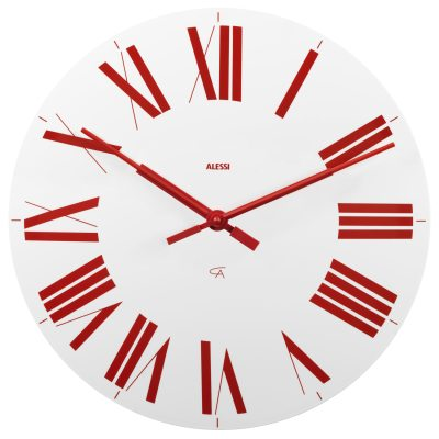 Firenze klocka vit/röd
