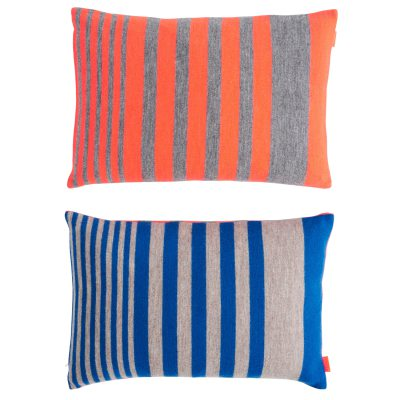 Step kudde orange/blå