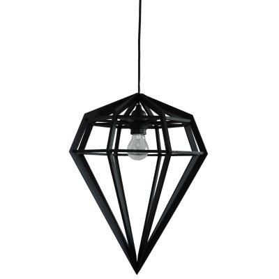 Döden lampa L, svart
