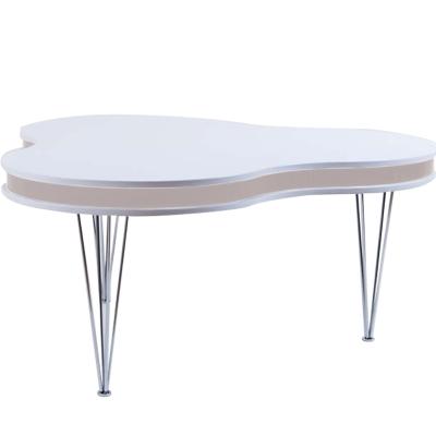 Bild av Treklöver soffbord, vit/ek