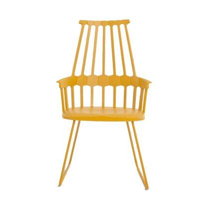 Comback stol stålstativ, hasselnöt