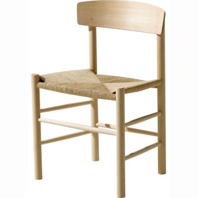 J39 stol, ek såpbehandlad med naturflätning