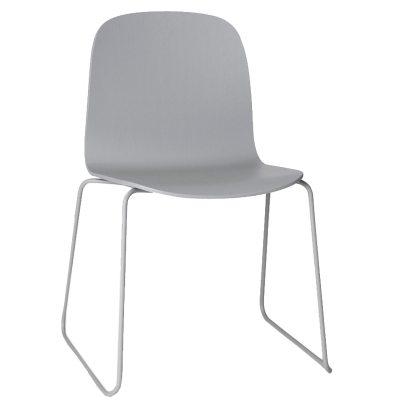 Visu stol stålben grå