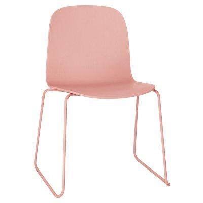 Visu stol stålben, rosa