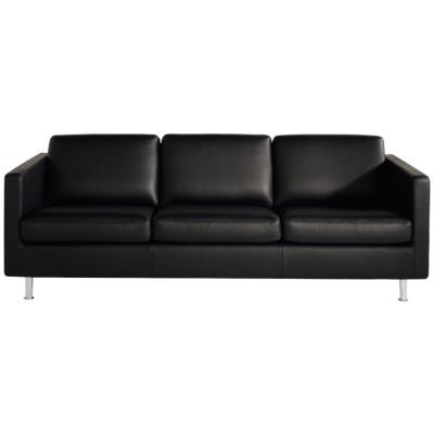 Johan 3-sits soffa Classic Soft läder svart