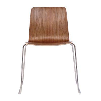 JW01 stol valnöt/rostfritt stål