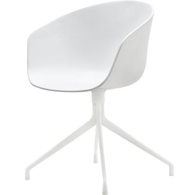 Bild av About a Chair 20 snurrstol, vit/vit
