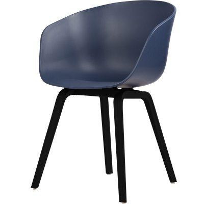 About a Chair 22, blå/svarta ben