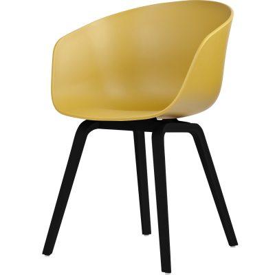 Bild av About a Chair 22, senap/svarta ben