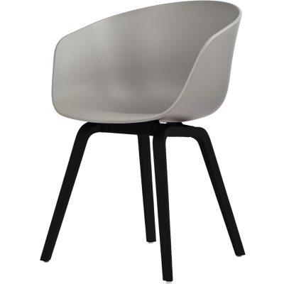 About a Chair 22, grå/svarta ben