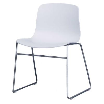 Bild av About a Chair 08, vit/rostfritt stål