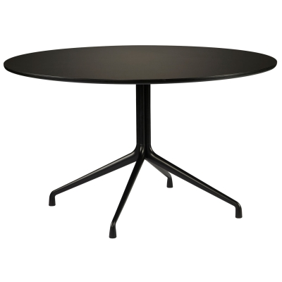 About a Table 10, Ø130, svart/svart