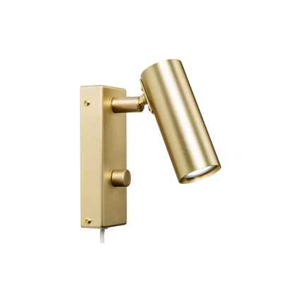 Köpa Puck enkel vägglampa, matt mässing billigt från RUM21