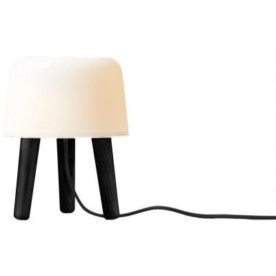 Milk lampa NA1, svarta ben
