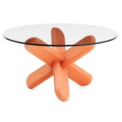 Ding soffbord glas/korall