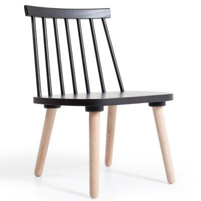 Bild av Wood loungestol H 19, svart/ek