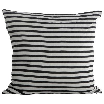 Stripe kuddfodral svart/grå