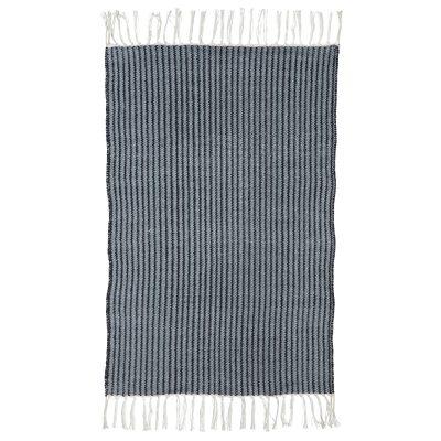 Stripe matta 60x90, blå/grå