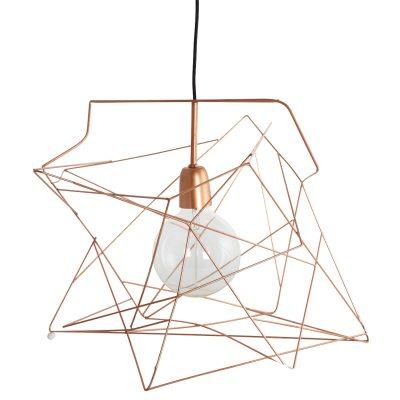 Asymmetric lampskärm koppar