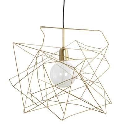 Asymmetric lampskärm guld