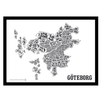 Göteborgskarta poster
