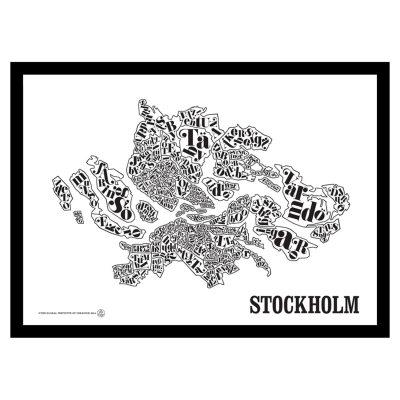 Stockholmskarta poster
