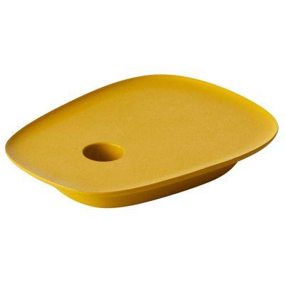 Float ljusstake gul