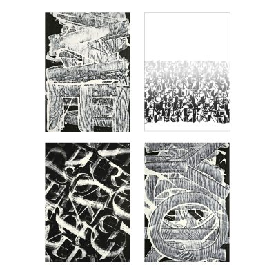 Pattern vykort 4-pack