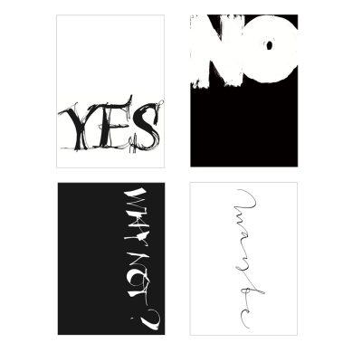 Bild av Yes or No vykort, 4-pack