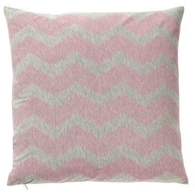 Waves kudde grå/rosa