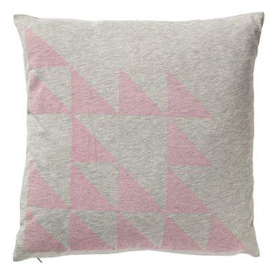 Bild av Triangles kudde, grå/rosa
