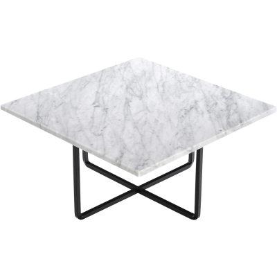 Bild av Ninety soffbord 60x 60x 30 cm, vit marmor/svart